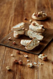 Hazelnut Biscotti Italian Biscuits Stock Photo