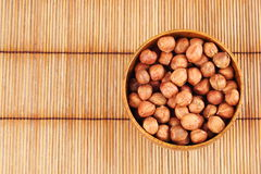 Hazelnut in a bowl Stock Images