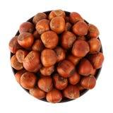 Hazelnut in the bowl Royalty Free Stock Photo