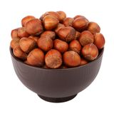 Hazelnut in the bowl Royalty Free Stock Photos