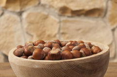 Hazelnut in a bowl Royalty Free Stock Image