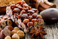 Hazelnut brittle Royalty Free Stock Photo