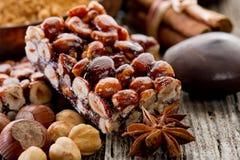 Hazelnut brittle Royalty Free Stock Photo