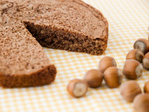 Hazelnut cake Stock Images