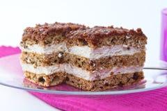 Hazelnut cake. Delicious hazelnut cake from Hungary Royalty Free Stock Image