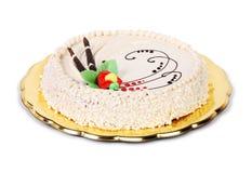 Hazelnut cake on white background Stock Images