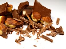 Hazelnut chocolate Stock Photo