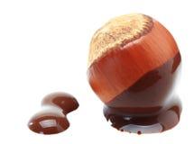 Hazelnut Chocolate. On white background Stock Image
