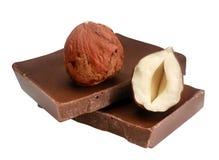 Hazelnut & chocolate Royalty Free Stock Photos