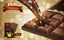 Hazelnut chocolate ad stock illustration