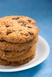 Hazelnut and chocolate cookies Royalty Free Stock Photography
