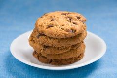 Hazelnut and chocolate cookies Stock Photos