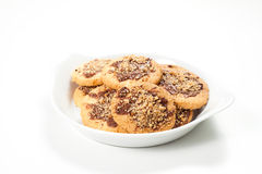 Hazelnut and chocolate cookies and cake Stock Image