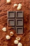 Hazelnut chocolate Stock Photo