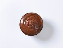 Hazelnut chocolate spread Stock Photos