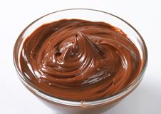 Hazelnut chocolate spread Royalty Free Stock Images