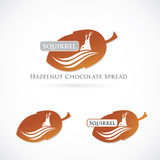 Hazelnut Chocolate Spread label Royalty Free Stock Photography