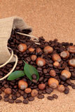 Hazelnut Coffee Stock Photography