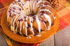 Hazelnut cranberry coffee cake dessert Stock Image