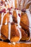 Hazelnut cranberry coffee cake dessert Stock Images