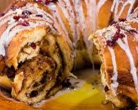 Hazelnut cranberry coffee cake dessert Stock Photos