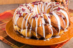Hazelnut cranberry coffee cake dessert Royalty Free Stock Photos