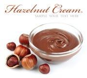 Hazelnut cream Stock Photo