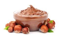 Hazelnut cream Stock Photos