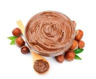 Hazelnut cream with hazelnut Stock Photography