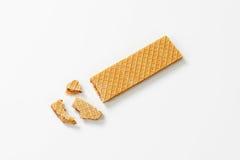 Hazelnut cream wafer Royalty Free Stock Images
