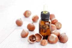 Hazelnut essential oil Royalty Free Stock Image