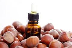 Hazelnut essential oil Royalty Free Stock Photography