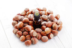 Hazelnut essential oil Royalty Free Stock Photos