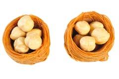 Hazelnut with glaze Stock Image