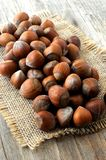 Hazelnut group on table kitchen Stock Photo
