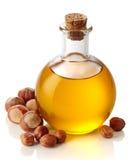 Hazelnut hazelnuts i olej zdjęcie royalty free