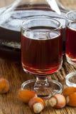 Hazelnut liqueur Royalty Free Stock Images