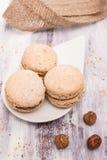 Hazelnut macarons Stock Image