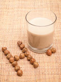 Hazelnut Milk Royalty Free Stock Images