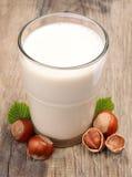 Hazelnut milk Stock Photo