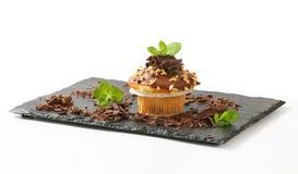 Hazelnut muffin Stock Photo