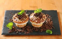 Hazelnut muffins Royalty Free Stock Photos
