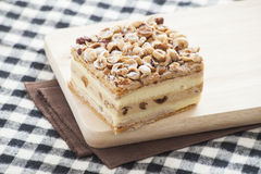 Hazelnut Napoleon Cake Royalty Free Stock Photo