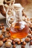 Hazelnut Oil Bottle Stock Image