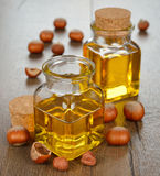 Hazelnut oil Stock Photos