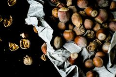Hazelnut - one of the most useful and rich in its properties. Indeed, it can be recognized as a truly unique fruit, combining the nutritional and caloric Stock Images