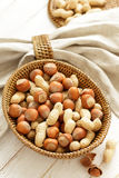 Hazelnut and peanut Royalty Free Stock Photos