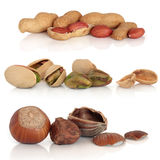 Hazelnut, Pistachio and Peanut Selection Stock Images