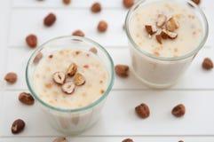 Hazelnut Pudding Stock Photo