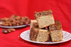 Hazelnut sweet cake Stock Photography